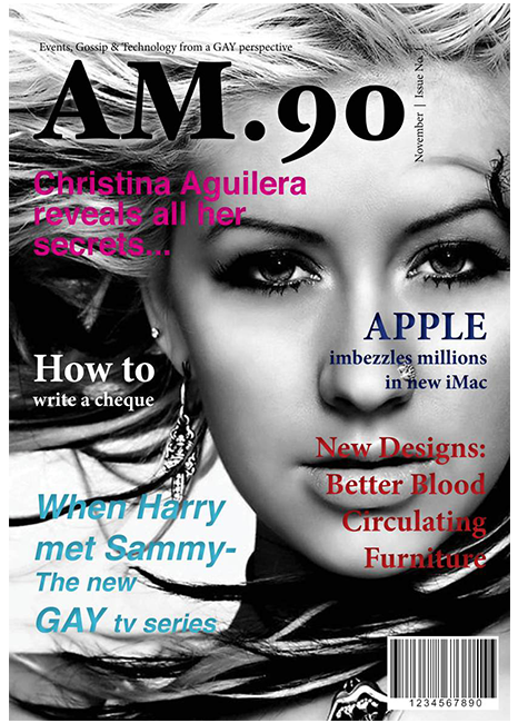 Layout Example (Magazine Cover)