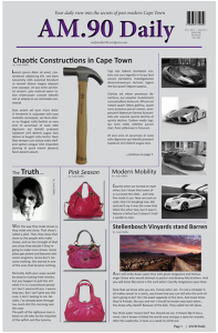 Layout Example (Newspaper)